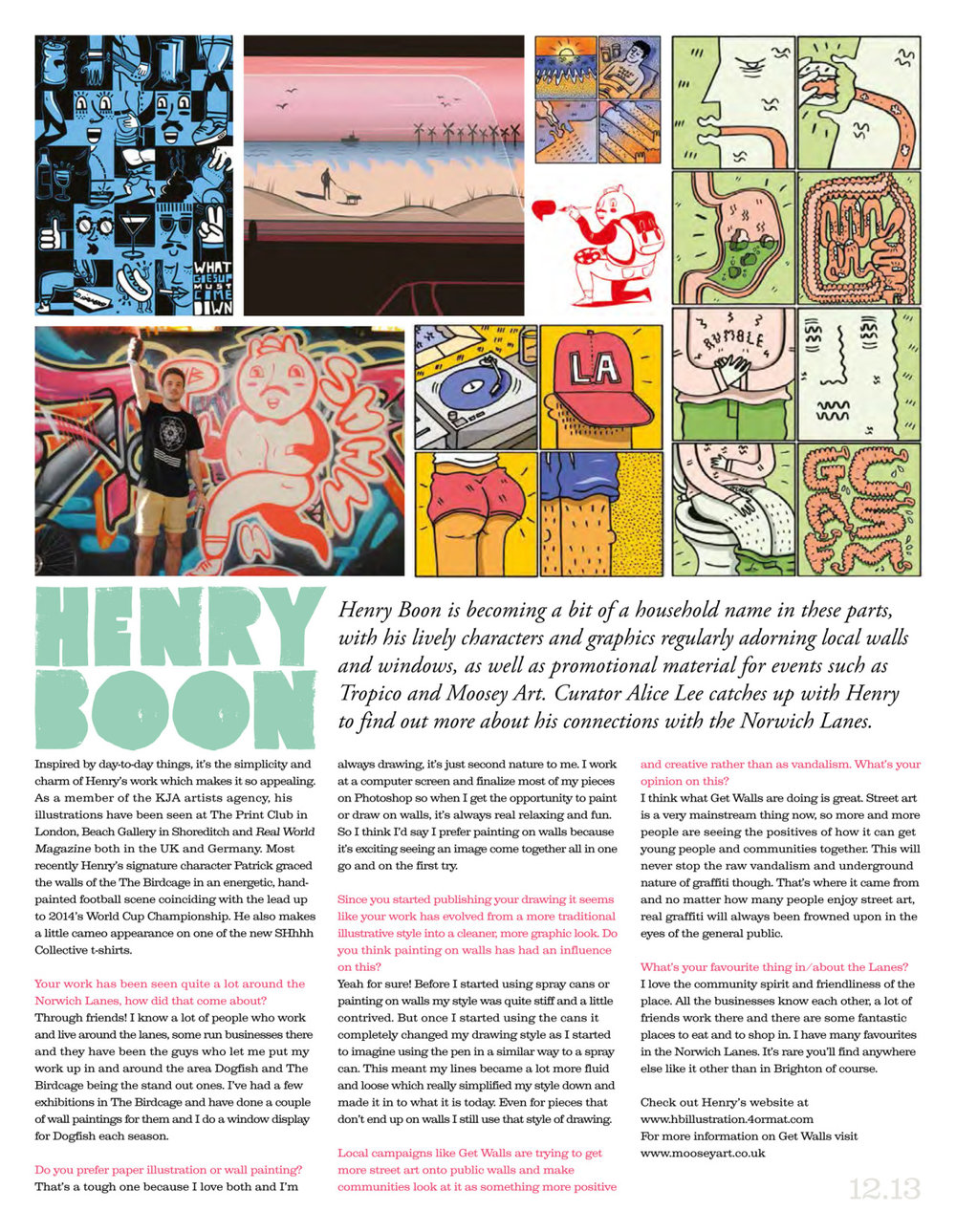 As we currently gather all the content for the next issue of The Lanes Paper, due out in time for Norwich Sound & Vision Festival, here's a quick recap on the last one with our interview with Henry Boon. Copies of the physical paper are still available in most of The Lanes local businesses and shops.