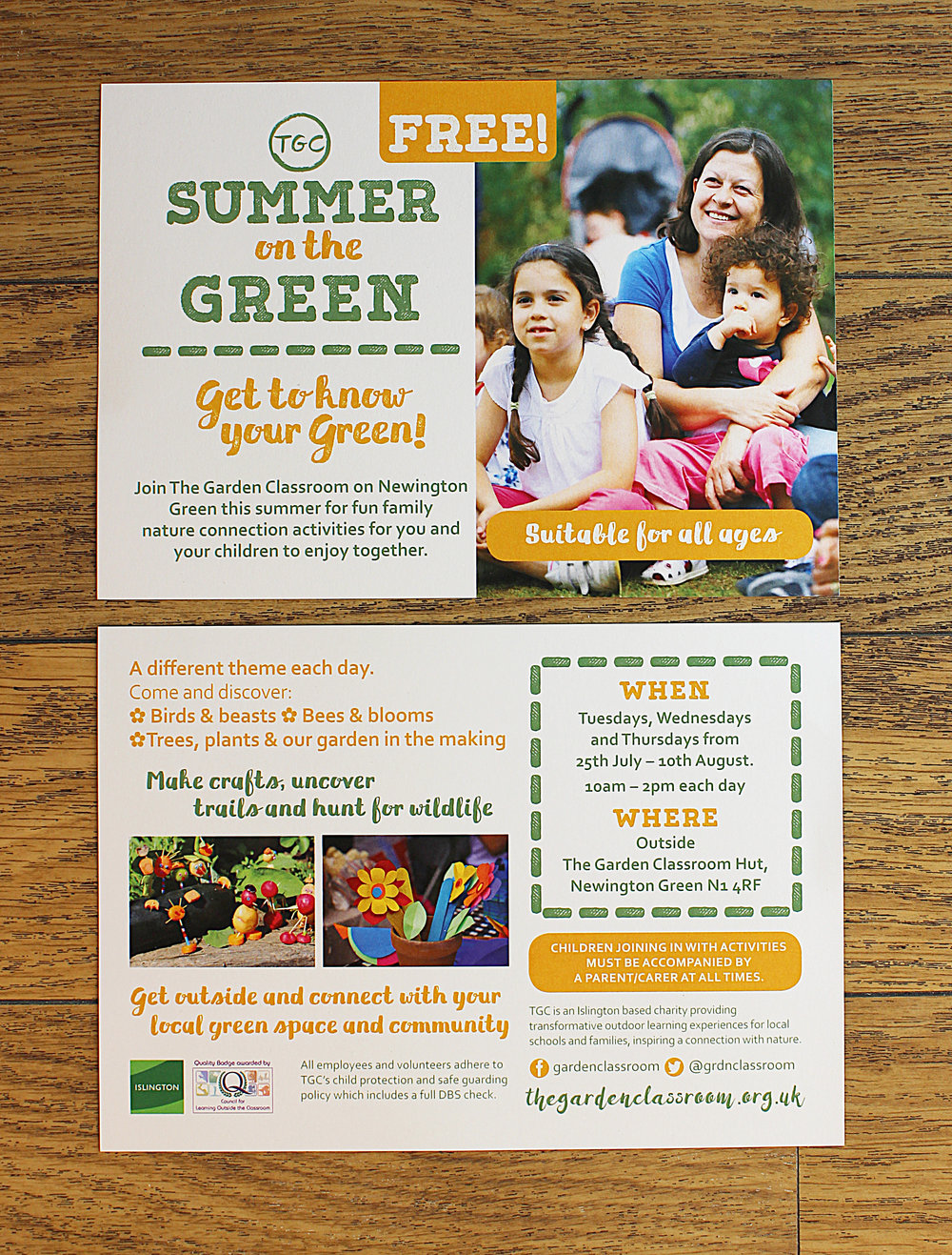 Digital printed summer on the green leaflets a5