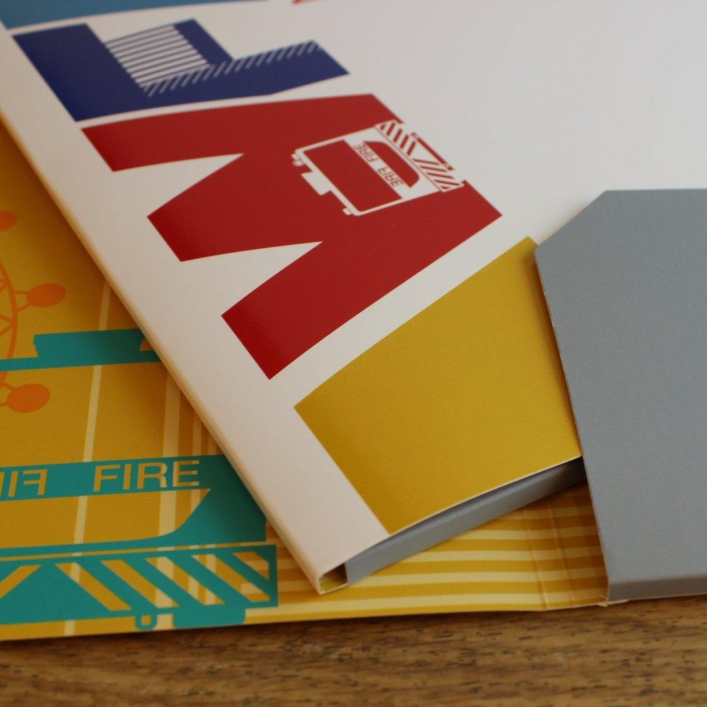 A colourful capacity folder