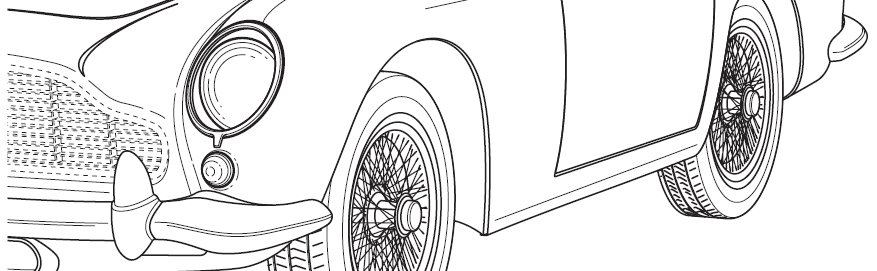 Small section of a classic car patent drawing completed by Heron Dawson & Sawyer