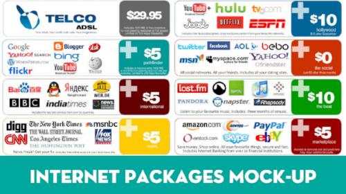 internet packages mockup