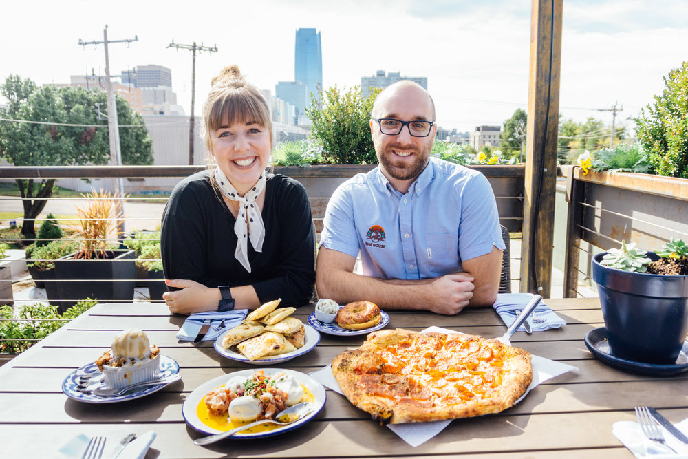 Molly Hall & Chris Cox at Hall's Pizza Kitchen in Oklahoma City