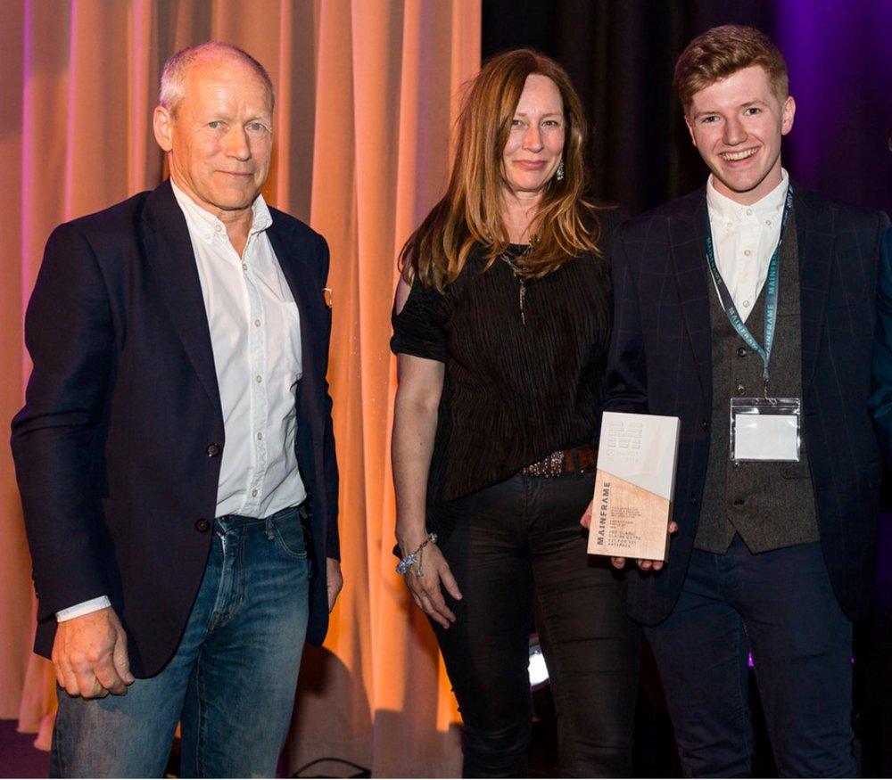Co-Founders: Joe Clark and Claire Cutts at the Mainframe Awards 2018.