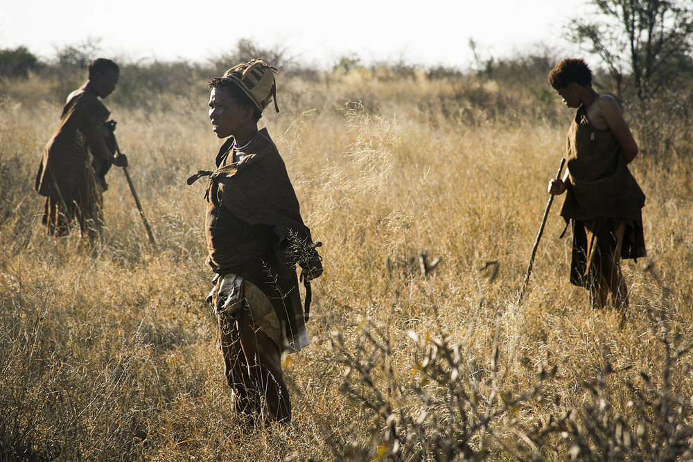San Bushmen in the Kalahari Desert, Namibia