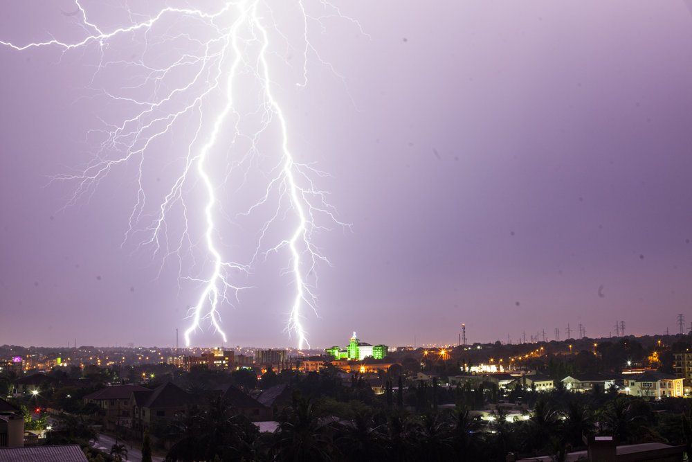 Lighting over Accra, Ghana