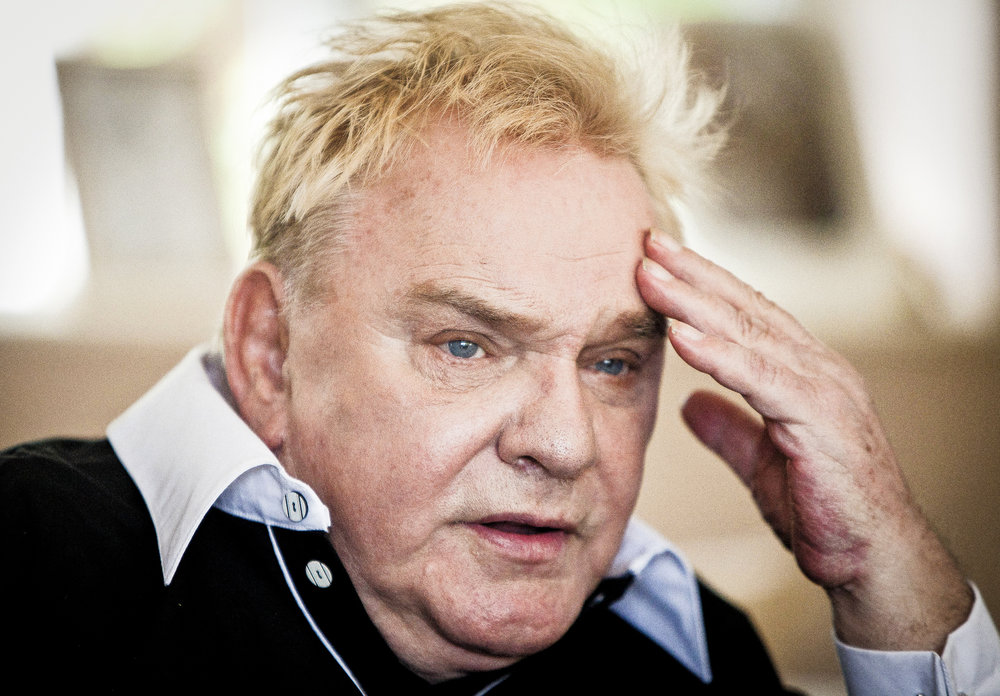Comedian Freddie Starr, 71, at his home in Studley, Warwickshire on the day he was cleared of all charges related to sexual assault