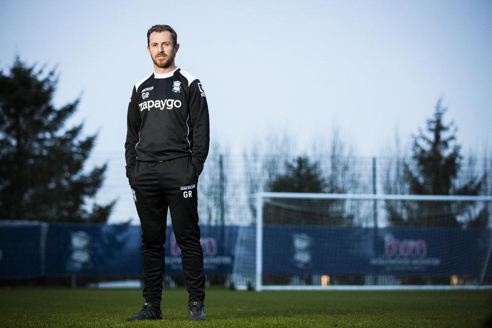 Gary Rowlett, Manager of Championship team Birmingham City F.C at their training ground in Birmingham, West Midlands