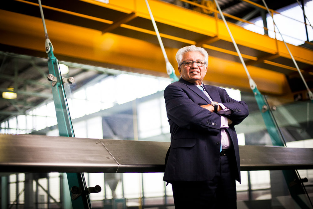 Professor Lord Kumar Bhattacharyya, 74, photographed at the Manufacturing department at Warwick University.