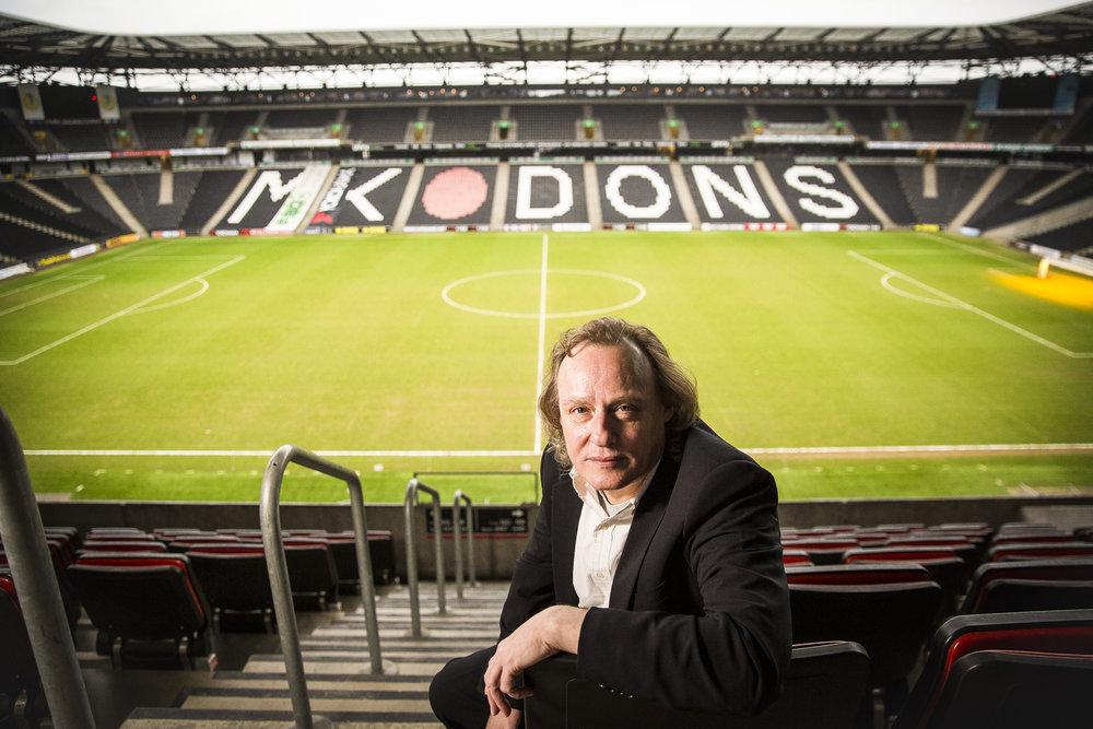 Peter Winkelman, Chairman of MK Dons FC at the Stadium MK in Milton Keynes.