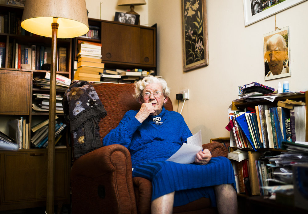 Joyce Hinton, 98, one of the last people in the UK to have met Adolf Hitler.