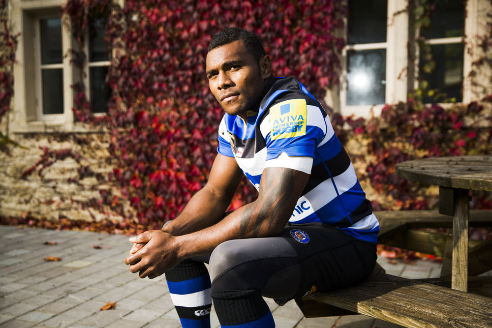 Bath rugby player Semesa Rokoduguni at at the Bath training ground at Farleigh House