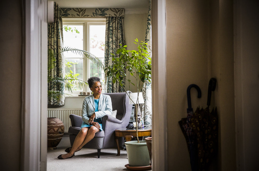 Peaches Golding,  Her Majesty's Lord-Lieutenant of the County and City of Bristol at her home in Bristol.