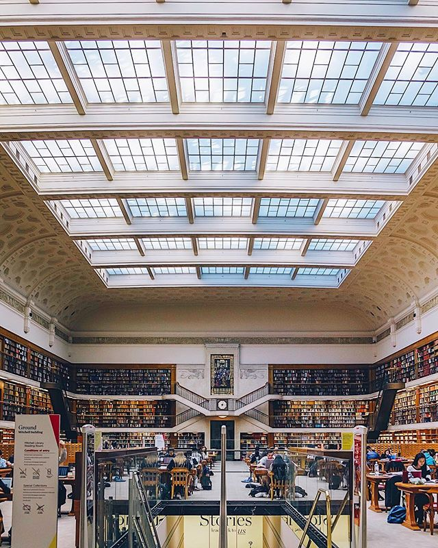 The library lets you borrow the beauty and keep the knowledge 📚📖 Photo of @statelibrarynsw by @paulpayasalad #WHPISpyEmojis