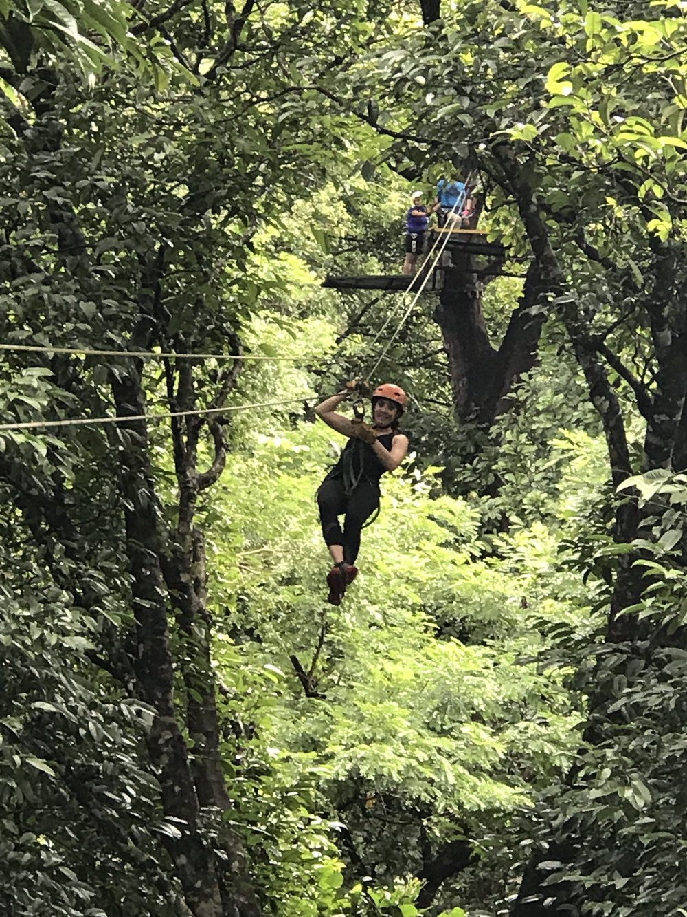 Zip-lining at the Congo Trails Adventure Center