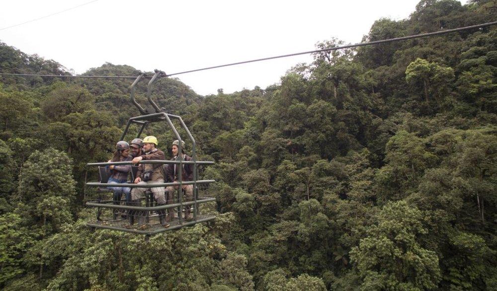 Mashpi Dragonfly Ride.  Photo Courtesy of Mashpi Lodge.