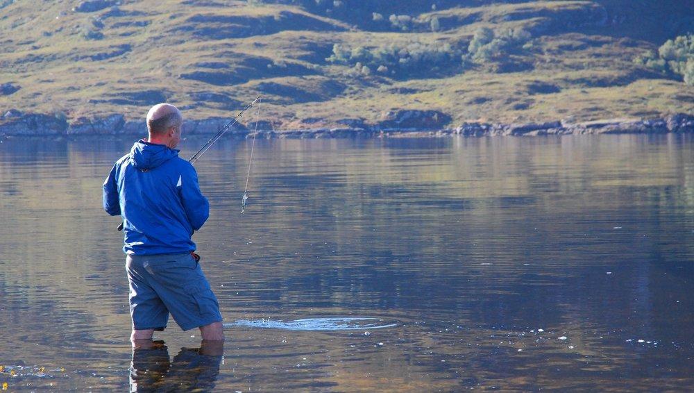 3. Testing the water, Loch Broom, Ullapool.JPG