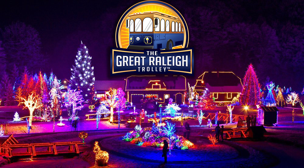 holiday lights the great raleigh trolley