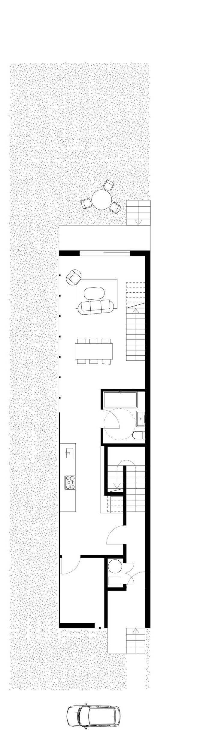 //Narrow Multi-Family Dwelling //2018 // On Hold