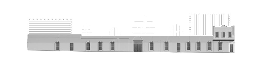 //White = Additions //South Elevation