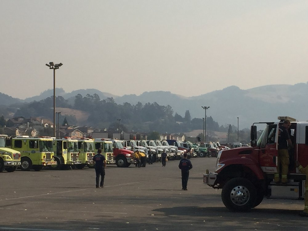 Santa Monica Fairgrounds Response Center Northbay fires 3.jpg