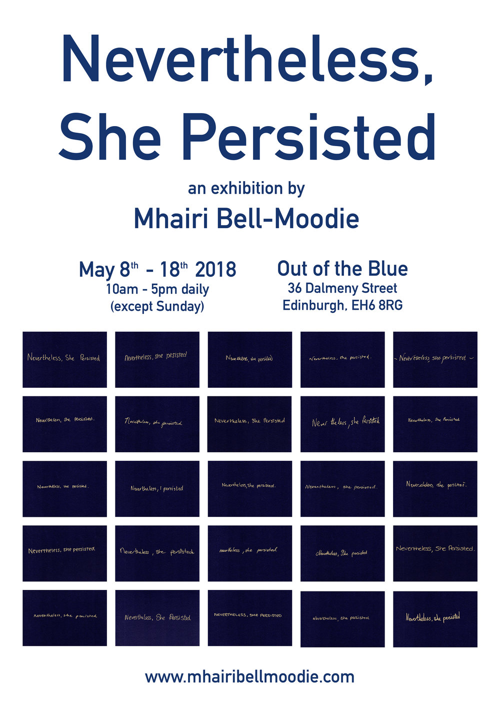 Nevertheless, She Persisted at Out of the Blue, Edinburgh