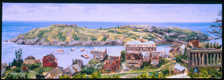 Monhegan Blue (from Lighthouse Hill) , oil on canvas, 2003
