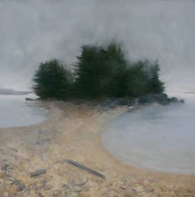 Dampness, Twin Beaches, oil on linen