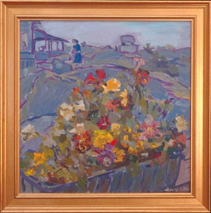 Window Box , oil on canvas
