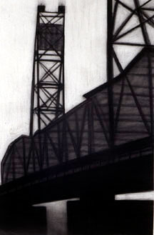 Portsmouth Span, charcoal on paper, 2003