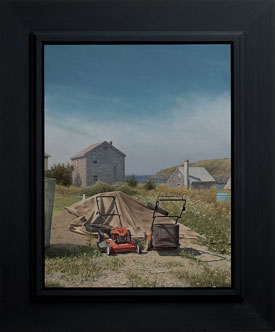Monhegan Mowers , oil on panel, 2011
