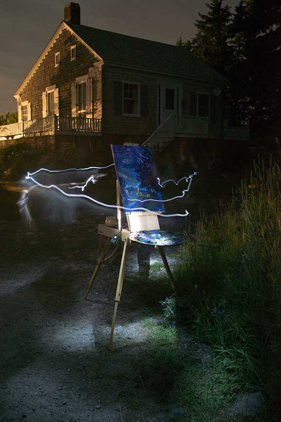 Krisanne Baker , Night Painting ; Photo courtesy of Bradley Beukema