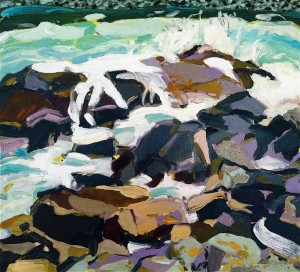 Wreck , oil on canvas, 24×22 inches, 2012