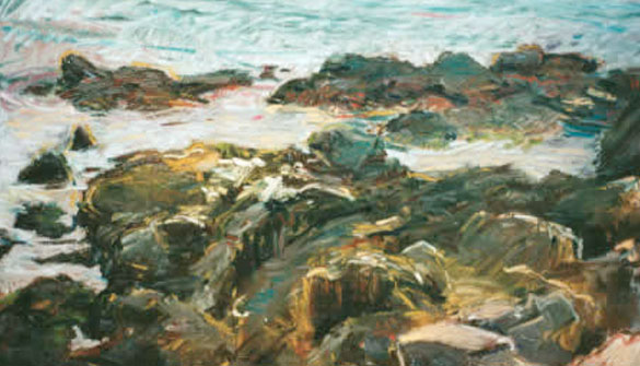 "Carol Sloane, ""South West Shore - Rocks View Matinicus,"" (2002 Resident)"