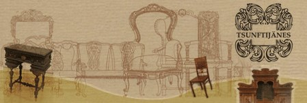 Tsunftijänes - Teostame järgnevaid töid:*mööbli restaureerimine*sadulsepatööd (traditsioonilised materjalid ja meetodid)*polstritööd*poleeritud pindade taastamine*mööblikoopiate valmistamine*hindamine ja ekspertiis*interjööride komplekteerimine ja kujundamine*keerulised puidunikerdused ja nende restaureerimineMõisa tee 2, ViimsiTel: 6091133+372 50 51 490 (Mati)+372 52 730 49 (Tiina)mati@tsunftijanes.ee
