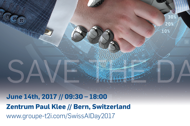 Swiss AI Day: EmPOWER your Business [June'17] - RetinAIwill be participating in the Swiss AI Day: EmPOWER your Business, taking place on June 14th in Bern, and featuring top speakers in finance, insurance, healthcare, life sciences and research in AI. Don't miss the date and registernow!