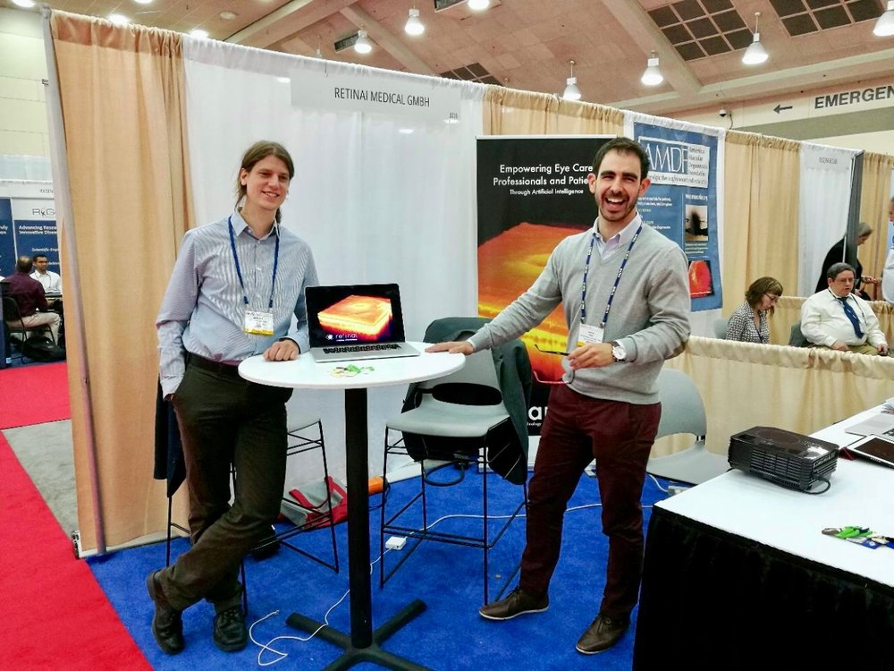 ARVO 2017, Baltimore [May'17] - Our team members travelled to the American Research in Vision and Ophthalmology (ARVO) conference 2017, in Baltimore, to present their products in the field of OCT image analisys and Fundus Imaging. Many new collaborations coming along after this week!