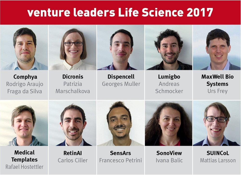 Venture Leaders Life Sciences [April'17] - RetinAI among the 10 new Swiss Life Science startups selected by the venture leaders Life Science program's jury to participate in this year's high powered, one week investors and business roadshow in Boston, co-organized by Swissnex Boston and VentureLab.