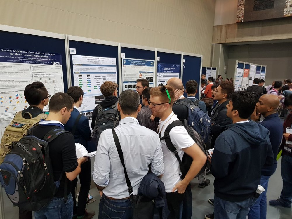 Retinal layer segmentation in oCT [september'17] - RetinAI's work on 'Segmentation of retinal layers in pathological OCT scans' has gathered a lot of attention in #MICCAI2017's main conference. Take a look at the complete article following this arxiv link!