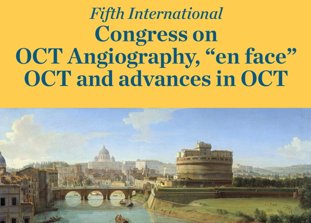 5th international congress oct angiography [December'17] - RetinAI will be presenting the latest company's developments in this year's edition of the 5th International Congress on OCT Angiography in Rome, on the 15-16th December. Don't forget to come to our session: Unleashing the potential of longitudinal image analysis in Optical Coherence Tomography.