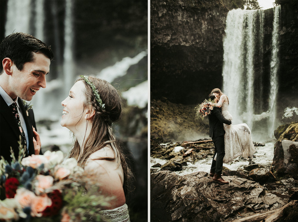 Oregon elopement - Tamanawas Falls trail