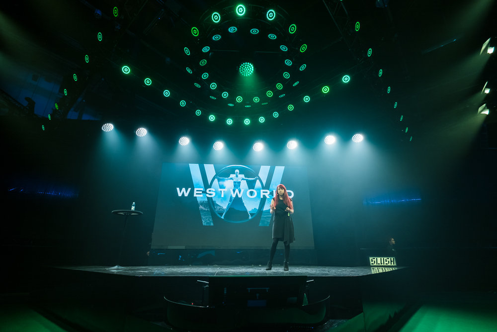 Stephanie Alys at Slush - Image by Dan Taylor