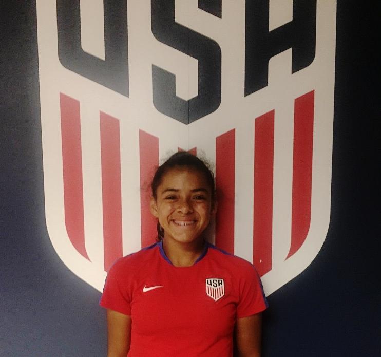 Bridgette on the US National U14 Team
