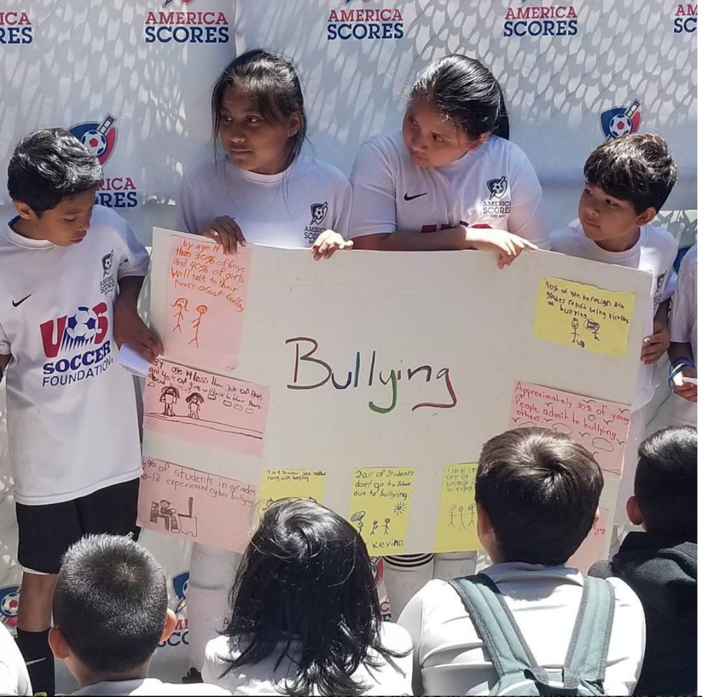 Sanchez Elementary students raise awareness on bullying and its effects on the community.