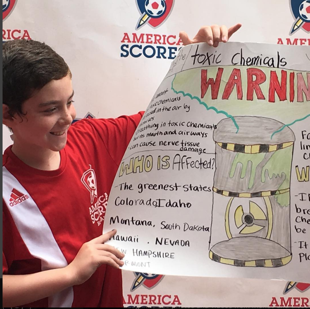 Lakeshore Elementary students warn of the dangers of exposure to toxic chemicals