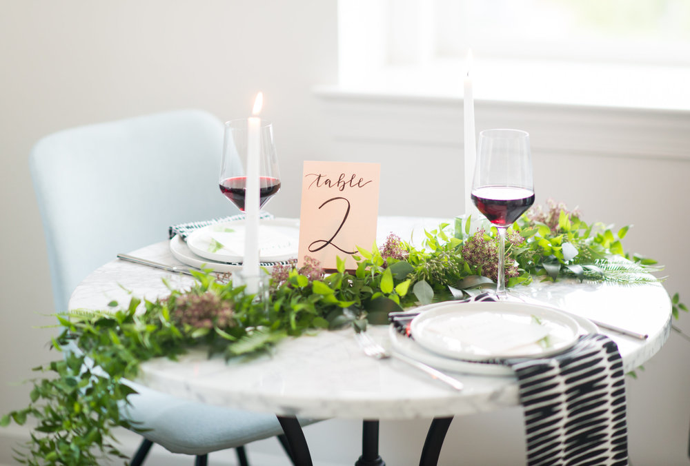 Learn the art of simple, elegant, and personalized tablescaping. (Photos:  Callie Lindsey Photography )