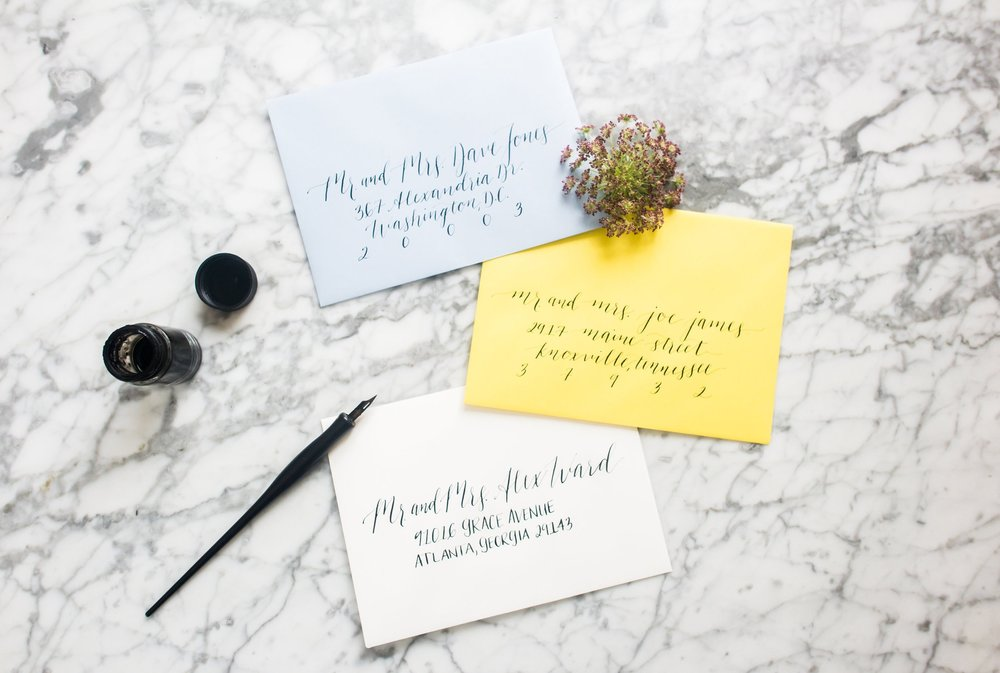 Envelope Calligraphy -