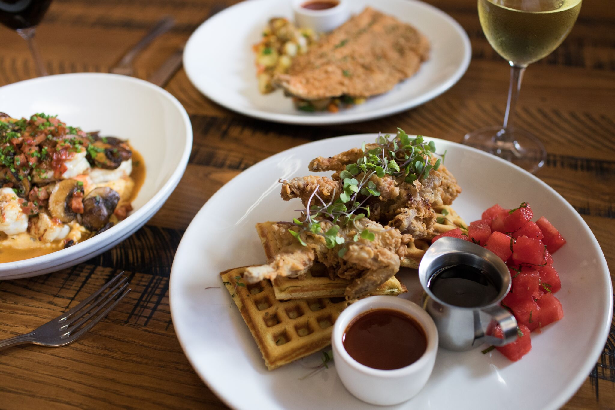 Chicken and waffles at SMOKE. // Courtesy