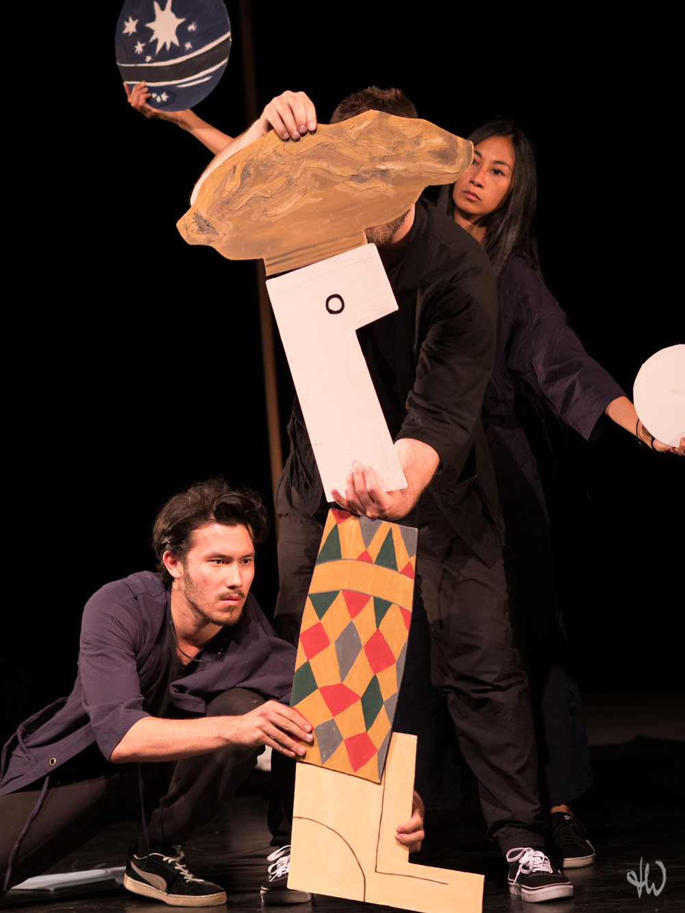 PARADE Picasso Satie Cocteau by Karin Schäfer Figuren Theater