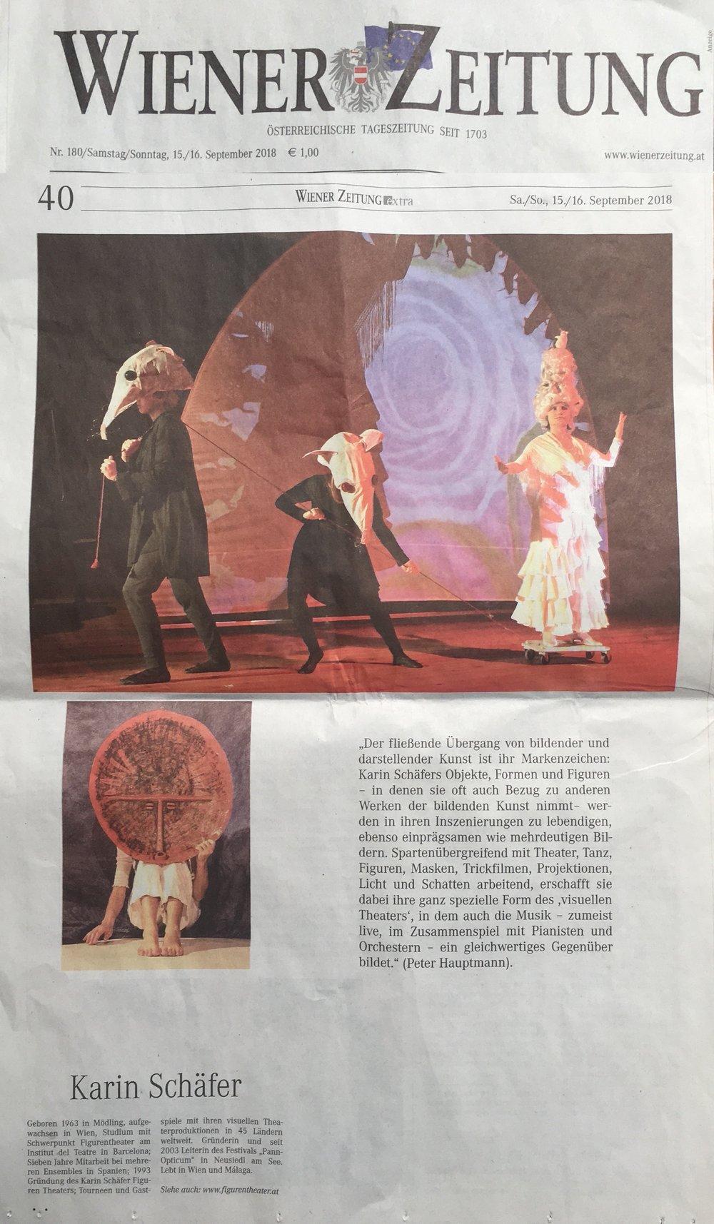 Karin Schäfer Figuren Theater Wiener Zeitung 15 09 2018.jpg