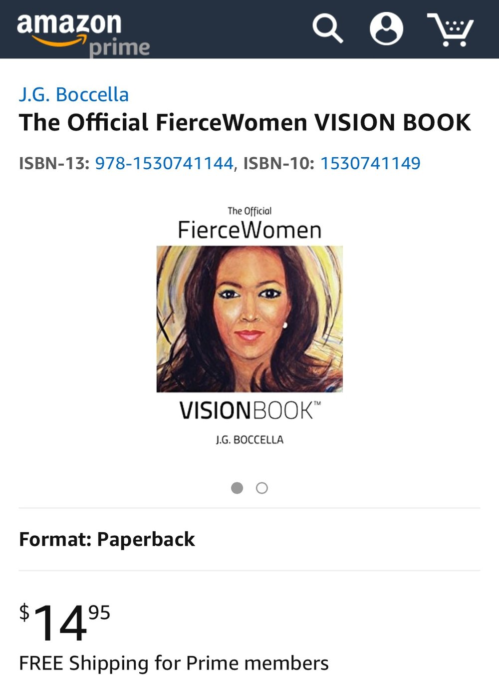 Get the Official FierceWomen VisionBook! -